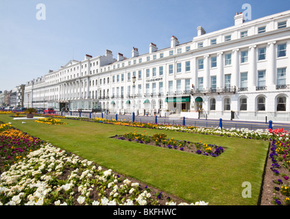 Claremont Hotel Seafront Eastbourne East Sussex Lawns Gardens - Stock Photo