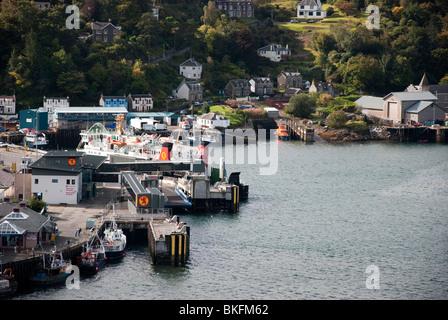 Caledonian MacBrayne Ferry Terminal Oban Harbour West Highland Scotland UK United Kingdom - Stock Photo