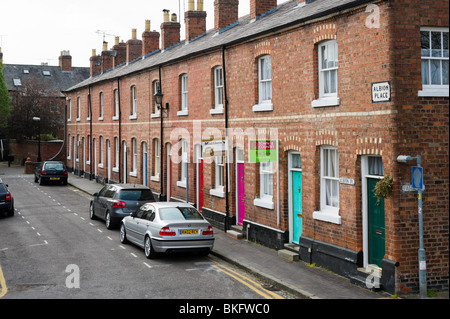 Terraced houses, Chester, Cheshire, England, UK - Stock Photo