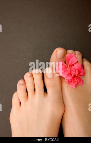 Close-up of woman's feet - Stock Photo