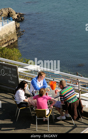Waterfront cafe bar restaurant on The Hoe Plymouth south Devon England UK - Stock Photo