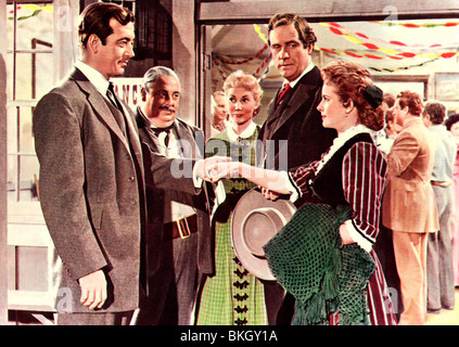 THE ROAD TO DENVER (1955) JOHN PAYNE, MONA FREEMAN 006 FOH - Stock Photo