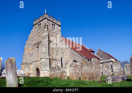 UK, England, Isle of Wight, Arreton Old Village, visitors ...