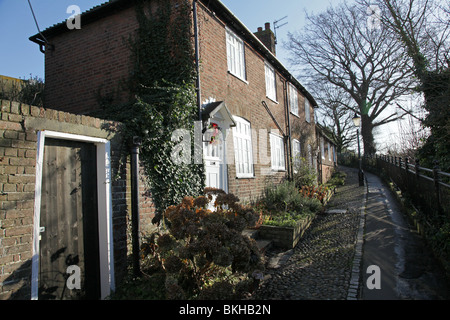 Typical houses that form the town of Rye in East Sussex, England, UK - Stock Photo