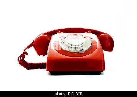 Red Retro Telephone - Stock Photo