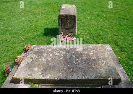 The grave of King Harold, Abbey Church, Waltham Abbey, Essex, England, United Kingdom - Stock Photo