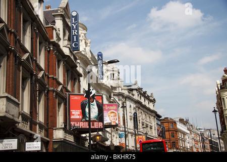 Londons West End, Theatreland, Shaftesbury Avenue, London, England, UK - Stock Photo