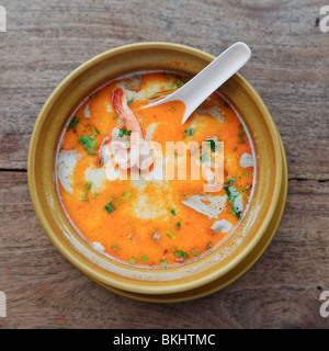 Thai traditional tom yam kung soup - Stock Photo