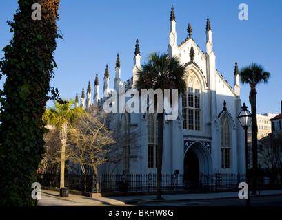 Huguenot Church, Charleston, South Carolina - Stock Photo