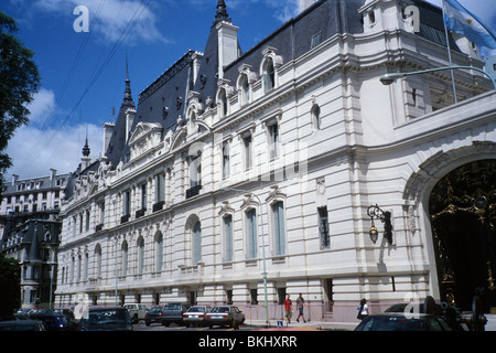 Buenos Aires, Argentina. A building belonging to the public administration, in the quarter known as Petit Paris. - Stock Photo