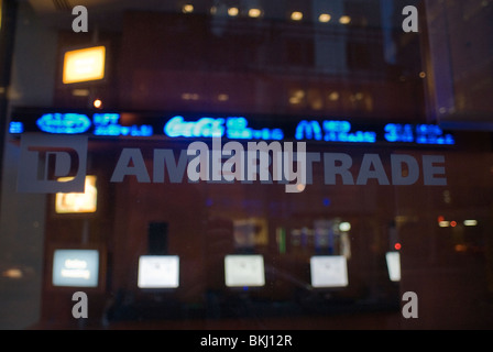 A TD Ameritrade Holding Corp. branch in Midtown Manhattan in New York on Friday, April 23, 2010. (© Richard B. Levine) - Stock Photo