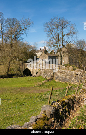 Airton in Craven, Quaker Village on the River Aire, The Yorkshire Dales, England - Stock Photo
