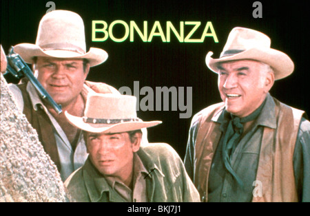 BONANZA (TV) DAN BLOCKER, MICHAEL LANDON, LORNE GREENE BNZ 014 - Stock Photo