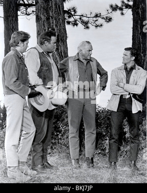 BONANZA (TV) MICHAEL LANDON, DAN BLOCKER, LORNE GREENE, DAVID CANARY BNZ 022 P - Stock Photo