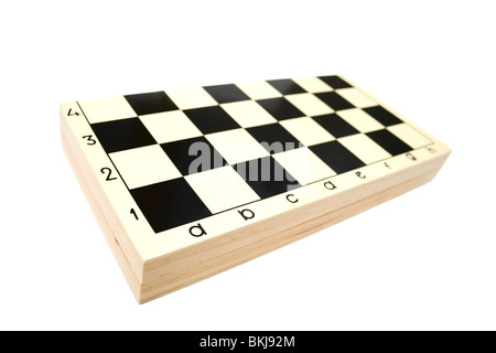 Closed chess box on white backgrounds - Stock Photo