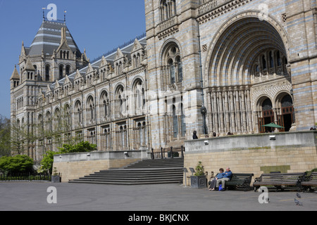 The Grand main entrance to the Victorian masterpiece the Natural History Museum in South Kensington,London,England. - Stock Photo