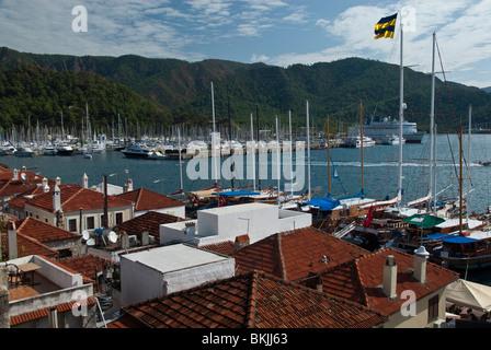 Roof Top View Of Marmaris Turkey - Stock Photo