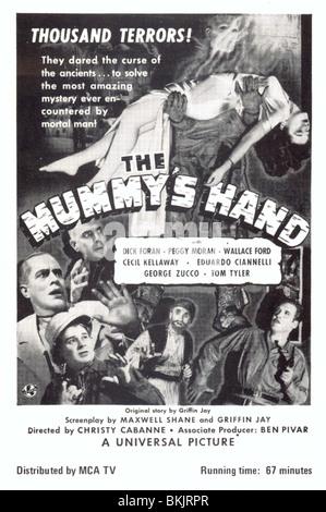 THE MUMMY'S HAND (1940) POSTER MUMY 001PK - Stock Photo