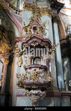 St. Nicholas Church, Mala Strana, Prague, Czech Republic - Stock Photo
