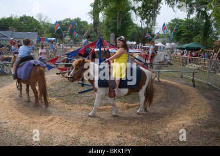 Young Boys Riding Ponies And Horses Rodeo Queensland