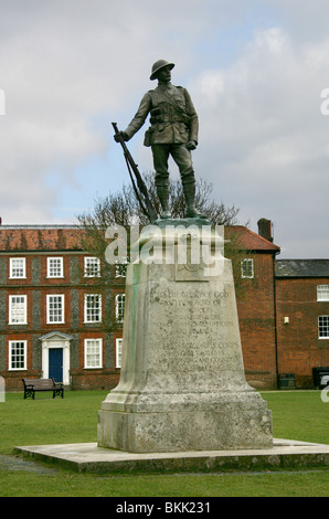 War Memorial to the Kings Royal Rifle Corps, Winchester Cathedral, Hampshire, UK - Stock Photo
