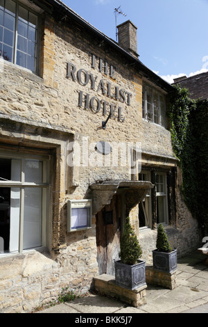 exterior of the royalist hotel the oldest inn in england digbeth street stow on the wold gloucestershire uk - Stock Photo