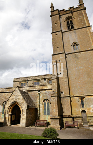 facade of st edwards parish church stow on the wold gloucestershire uk - Stock Photo