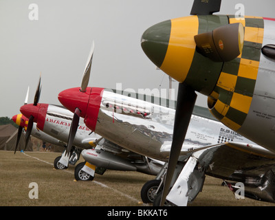 P51 Mustangs at 2009 EAA Air Venture Oshkosh Wisconsin USA - Stock Photo