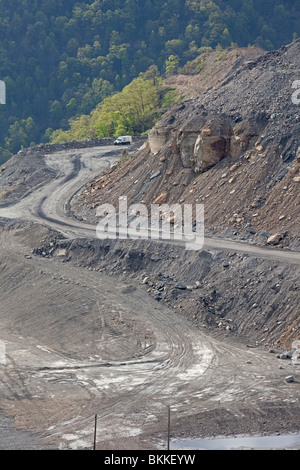 Mountaintop Removal Coal Mining Site - Stock Photo