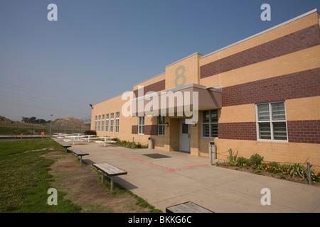 Housing unit inside the Nebraska State Penitentiary, Lincoln, Nebraska, USA. - Stock Photo