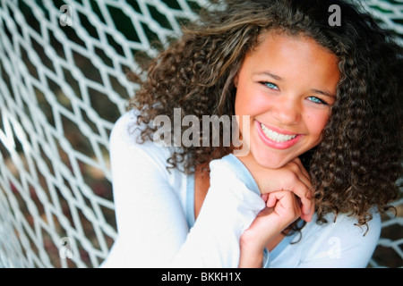 A Young Woman On A Hammock - Stock Photo