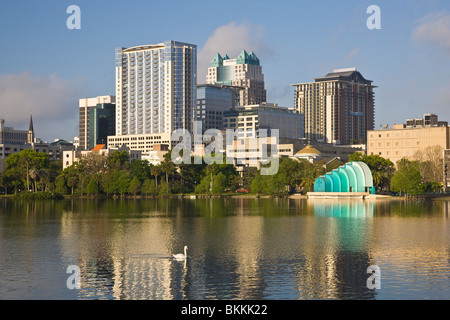 Modern Architecture Orlando downtown orlando architecture and lake eola stock photo, royalty