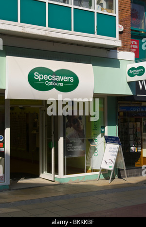 Front Of A Specsavers Opticians - Stock Photo