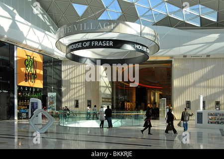 House of Fraser store entrance in Westfield shopping mall - Stock Photo