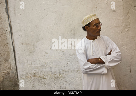 Swahili man - Stonetown, Zanzibar, Tanzania. - Stock Photo