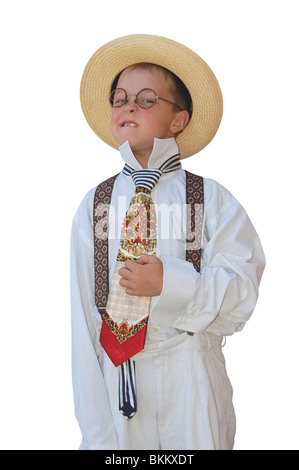 Maxim boy and his straw hat. - Stock Photo