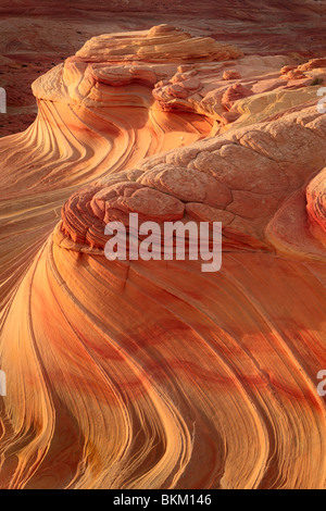 Abstract patterns on eroded sandstone formations in Vermilion Cliffs National Monument - Stock Photo
