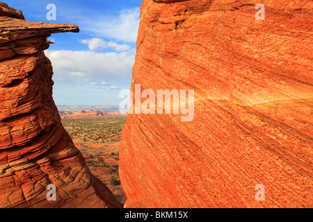 Rock window in the Vermilion Cliffs National Monument - Stock Photo