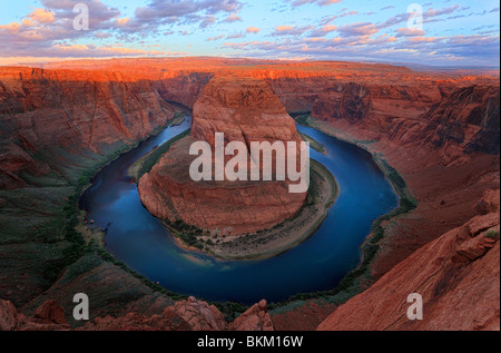 Horseshoe Bend on the Colorado River near Page, Arizona - Stock Photo