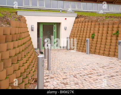 Entrance to the Visitor Centre at College Lake Wildlife Reserve, near Tring, Hertfordshire, UK - Stock Photo