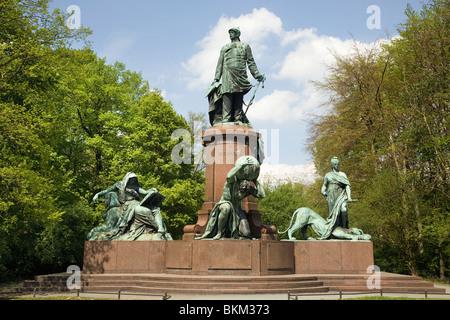 Statue of Bismarck in Tiergarten, Berlin, Germany - Stock Photo
