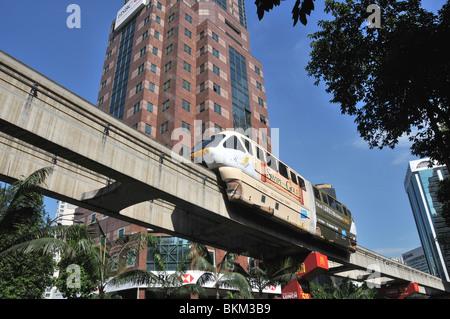 sky train, KL monorail, Kuala Lumpur, Malaysia - Stock Photo
