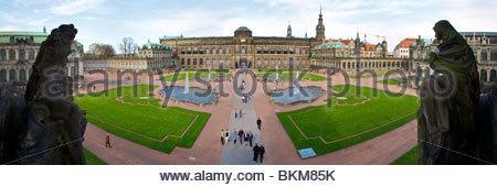 Zwinger Palace built 1710-1732, designed by Matthaus Daniel Poppelmann. Dresden, Saxony, Germany. - Stock Photo