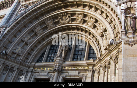 Victoria and Albert Museum, Cromwell Road Entrance, London, England, UK - Stock Photo