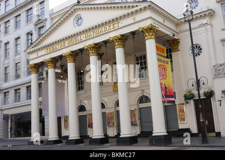 The Theatre Royal Haymarket designed by John Nash and opened in July 1821. - Stock Photo