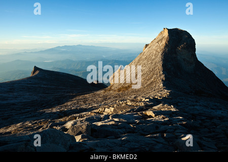 View from Low's Peak at the summit of Mt Kinabalu. Kinabalu National Park, Sabah, Borneo, Malaysia. - Stock Photo
