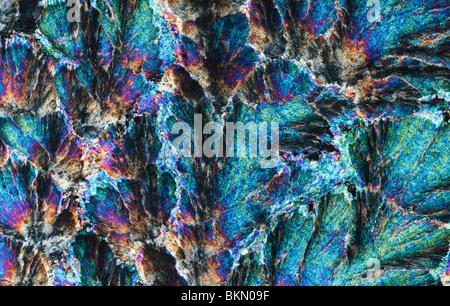 Barytes imaged in microscope with polarised light - Stock Photo