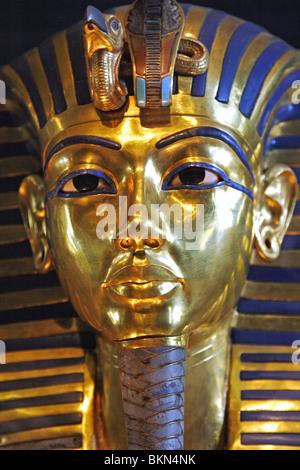 king Tutankhamen death mask, Egyptian Museum - Stock Photo