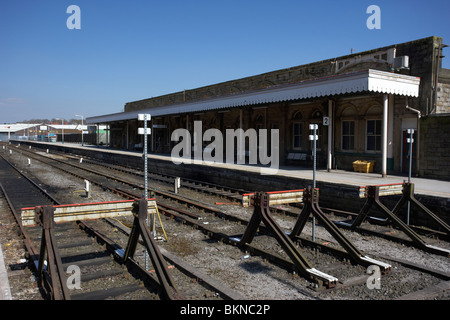end of the line at buxton railway station Buxton Derbyshire England UK - Stock Photo