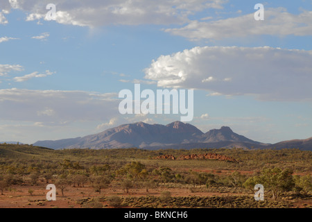 Mount Sonder in the West MacDonnell Range in the Northern Territory, Australia - Stock Photo